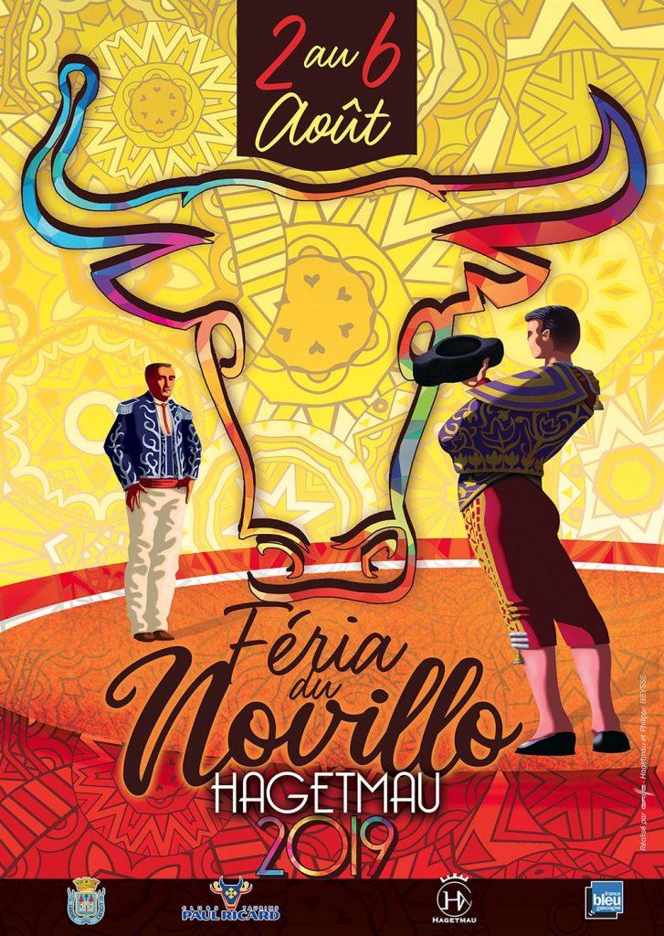 Affiche 2019 Fêtes de Hagetmau - Feria Landes - Feria du Novillo