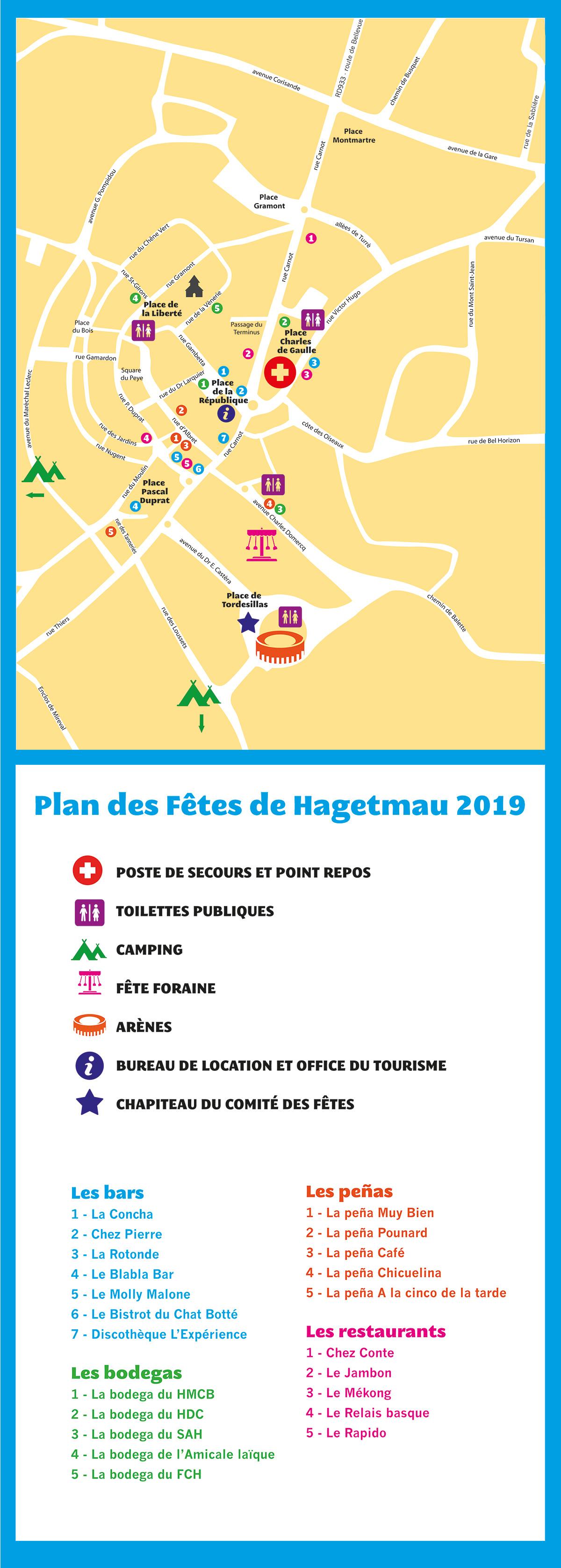 Le plan complet des Fêtes de Hagetmau 2019