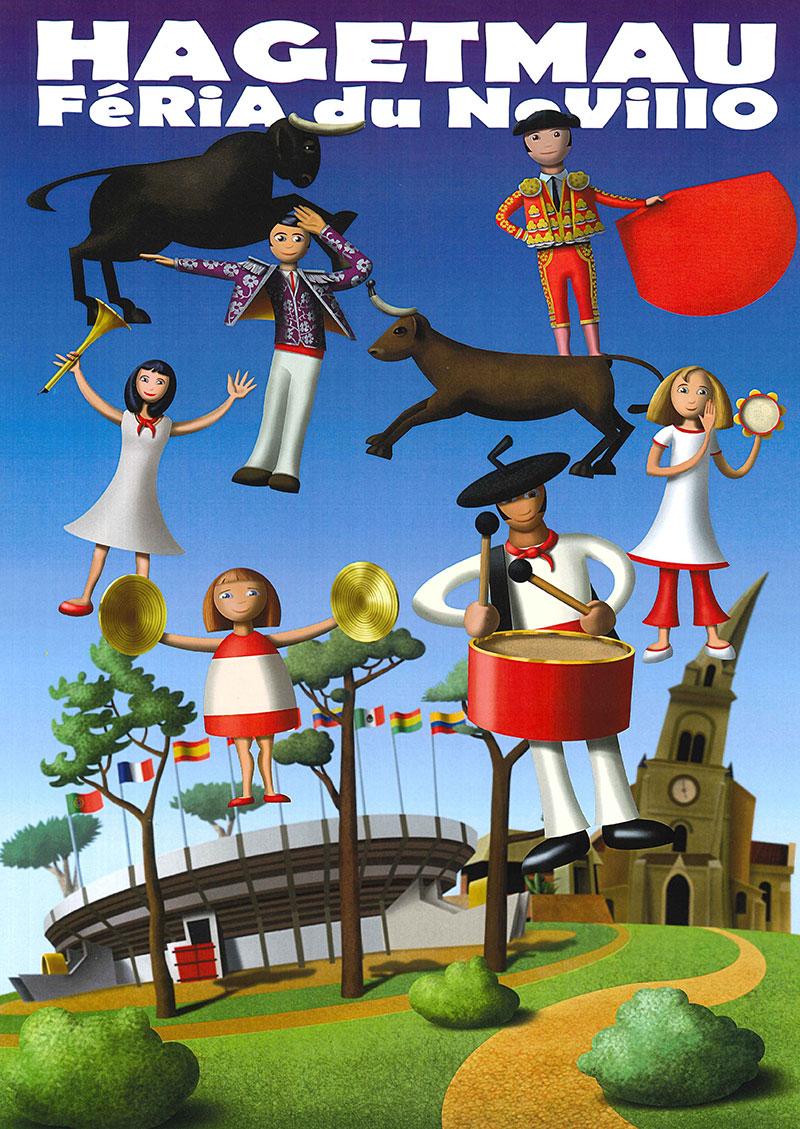 Concours d'affiche Fêtes Hagetmau 2020 - Une proposition de Philippe Bieysse de Magescq