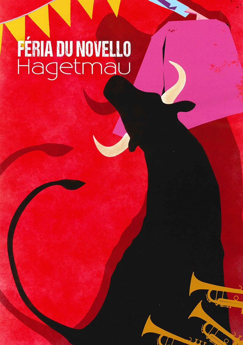 Concours d'affiche Fêtes Hagetmau 2020 - Une proposition de José Couzy de Paris