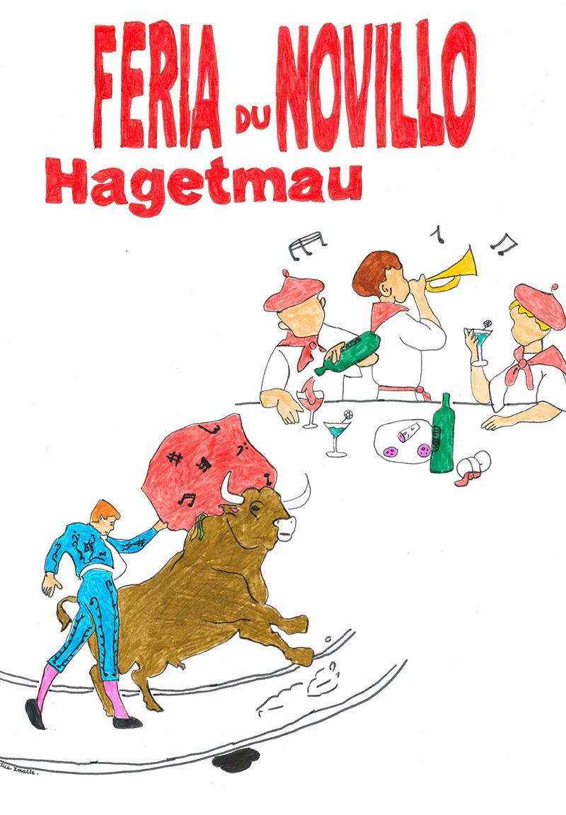 Concours d'affiche Fêtes Hagetmau 2020 - Une proposition de Candice Imatte de Poyartin