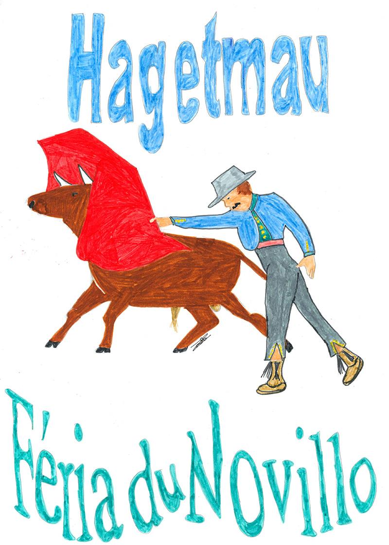 Concours d'affiche Fêtes Hagetmau 2020 - Une proposition de Romane Imatte de Poyartin