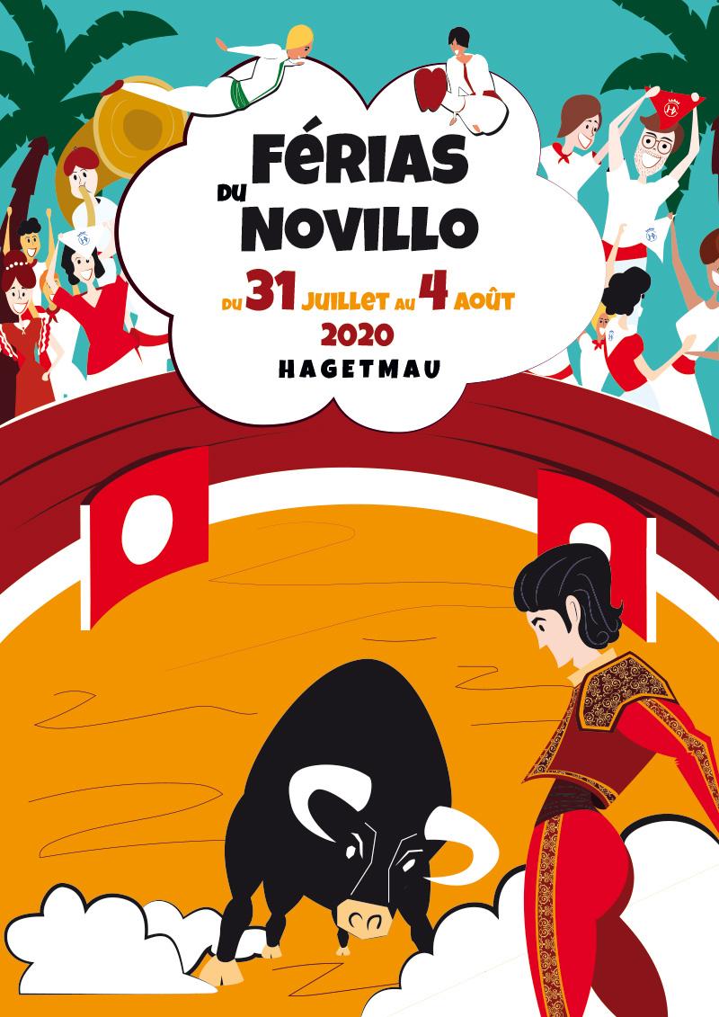 Concours d'affiche Fêtes Hagetmau 2020 - Une proposition de Alice Pellet de Hagetmau