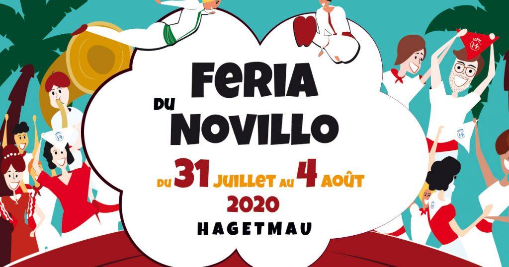 Affiche Fêtes Hagetmau 2020 - Affiche Féria du Novillo 2020