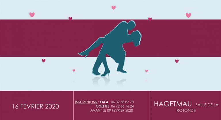 Bal musette saint Valentin Hagetmau 16 février 2020