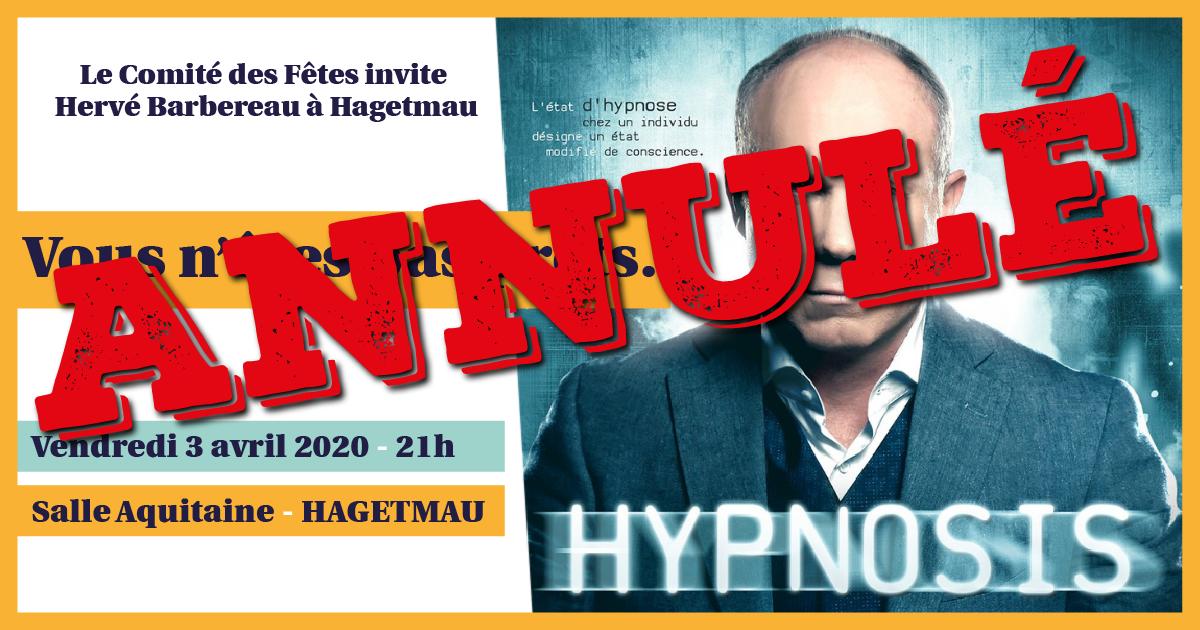 Hypnosis: Hervé Barbereau vient hypnotiser Hagetmau