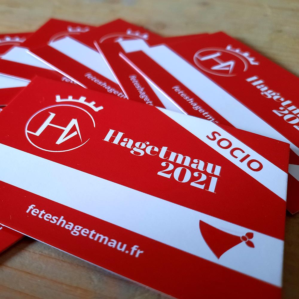 Nouveauté 2021! La carte membre du Comité des Fêtes de Hagetmau!